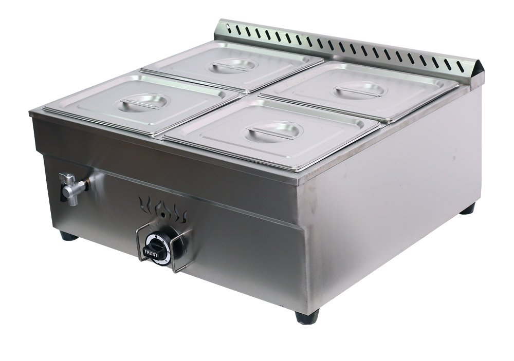 INTBUYING 4 Compartment Commercial Restaurant Bain marie