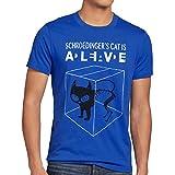 style3 Sheldon Schroedingers Katze Herren T-Shirt, Größe:XL;Farbe:Blau
