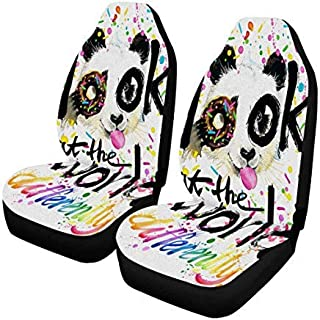 INTERESTPRINT Front Car Seat Covers Set of 2,Car Seat Covers Front Seats Only Universal Fit