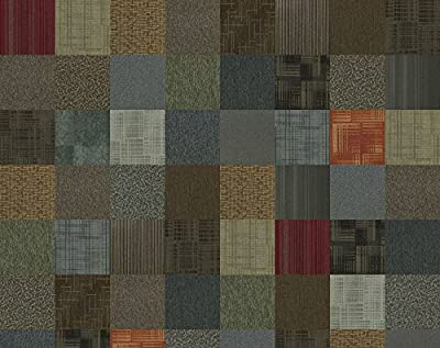 "4urFloor Assorted Carpet Tile 24"" x 24"" 96sqft 24 Peel and Stick Tiles"