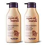 LUXLISS Argan Oil Shampoo and Conditioner Set Sulfate Free, Natural Organic Brightening Shampoo & Conditioner for Color Treated Hair/Curly Hair/Frizzy Hair/Thinning Hair/Dry Scalp Treatment, 2 x16.9Oz