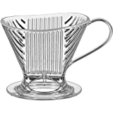 Melitta Signature Series 1 Cup Pour-Over Coffee Brewer, Clear