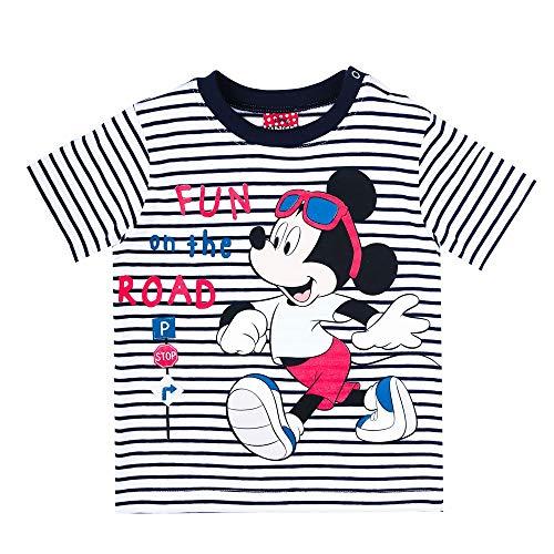 Disney Jungen Mickey Mouse T-Shirt, blau, Größe 92, 2 Jahre