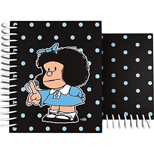 Grafoplás 16521971. Cuaderno Mafalda Comic con Espiral y Tapa Dura, A6, 100 Hojas Cuadriculadas 5mm, 4 Materias, Certificado FSC.