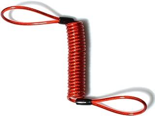 PinShang Alarm Disc Lock Security Anti Thief Motorbike Motorcycle Wheel Disc Brake Bag And Reminder Spring Cable red