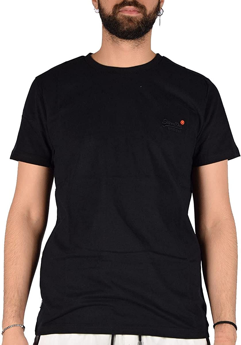 Superdry Organic Cotton Large special price !! T-Shirt Vintage Max 67% OFF Embroidered