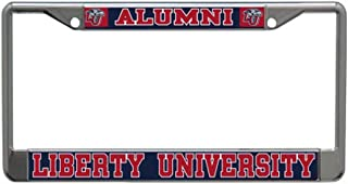 WinCraft Liberty University Alumni License Plate Frame, Chrome with Laser Etched Letters