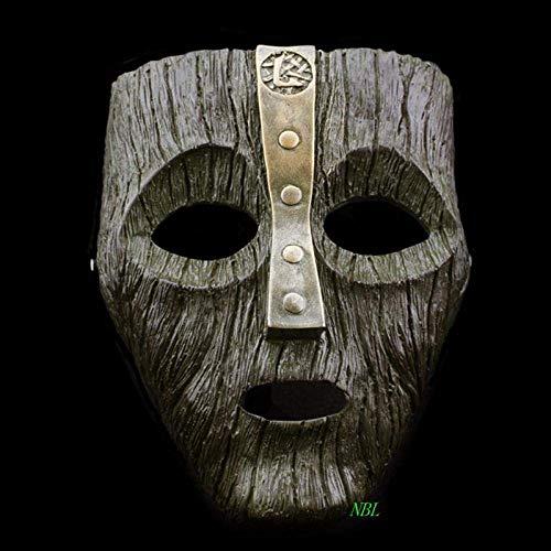 RTGFS Cameron Diaz Loki Halloween Resin Maschere Jim Carrey Maschera Veneziana Il Dio di Mischief Masquerade Replica Cosplay Costume Props -Light_Grey Grigio Chiaro