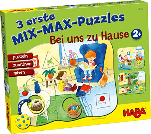 HABA 301649 3 Mix-Max Puzzles-Zu Hause