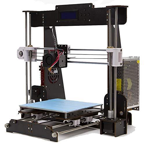 GUCOCO A8 Stampanti 3D, Kit di legno Stampante Desktop 3D Prusa i3, Stampanti 3D fai da te di alta precisione 220 * 220 * 240mm Dimensione di Stampa (A8 Stampante 3D)