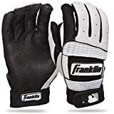 Franklin Sports Neo Classic Series - Guantes de bateo, Color Negro/Blanco, tamaño Youth M