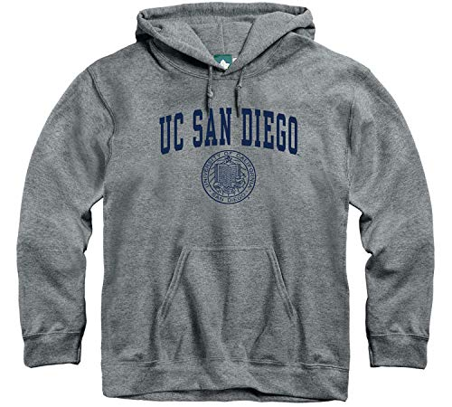 Ivysport UCSD University of California - San Diego King Tritons Hooded Sweatshirt, Heritage, Charcoal Grey, X-Large