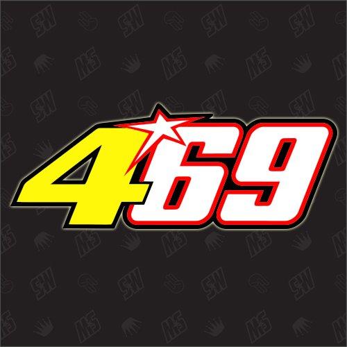 speedwerk-motorwear 469 – Número de Inicio Nicky Hayden + Pegatina Valentino Rossi Moto GP