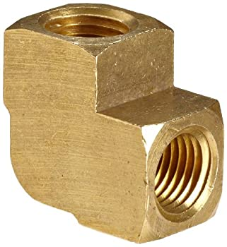 Anderson Metals 56100-04 Brass Pipe Fitting Barstock 90 Degree Elbow 1/4  x 1/4  Female Pipe