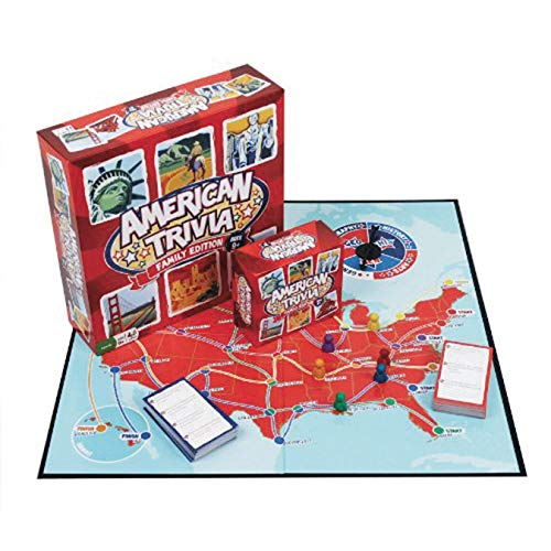 Outset Media Trivia Game - American Trivia Family Edition - The America Themed Family Board Game
