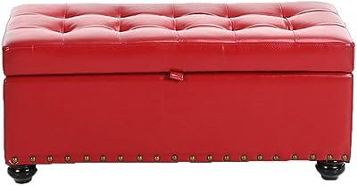 Remarkable Amazon Com Footstools Yxx Large Storage Ottoman Bench Seat Creativecarmelina Interior Chair Design Creativecarmelinacom