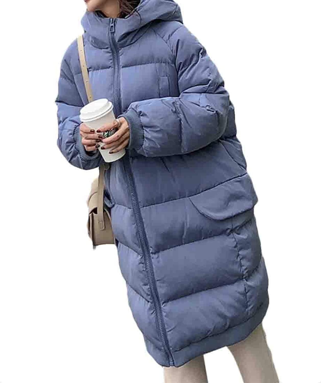 Desolateness Women's Hooded Winter Packable Ultra Light Weight Down Coats Jackets