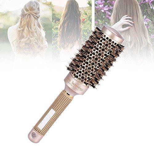 Cepillo nano cerámico iónico redondo para el secado de cabello con 4 dimensiones Cepillo del hierro de cerámica para secarse, el labrar, el encresparse (43mm)