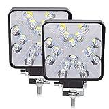 BeiLan Haz combinado Focos de Coche LED, 2Pcs 48W 12V/24V Faros Led Trabajo Proyectores Luz de carretera Luz de trabajo auxiliar para trabajo fuera de carretera Barra de luz LED para camión, tractor