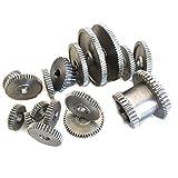 BXU-BG 17pcs / Set Torno engranajes, corte de metales Máquina engranajes, engranajes Torno