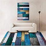 Salon Alfombra Azul salón Comedor decoración del hogar Resistente al Desgaste Alfombra Esparto Alfombra Gateo Bebe 40X60CM 1ft 3.7' X1ft 11.6'