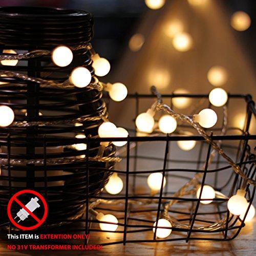 Catena di luci, von mycozylite, catena luminosa a LED con timer, Globe, impermeabile spina e cavo Dose, Albero di Natale decorazione Led Globe Light Extension