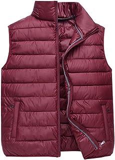 79f2add03be Dolwins Men Winter Vest Sleeveless Down Jacket Padded Warm Puffer Vest  Lightweight