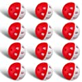 Champkey IMPACTECH Hybrid Rubber Practice Golf Balls - Designed for True Practice?High Impact Training Golf Balls ?Indestructible and Resistant to Dents (White&Red, 24 Pack)