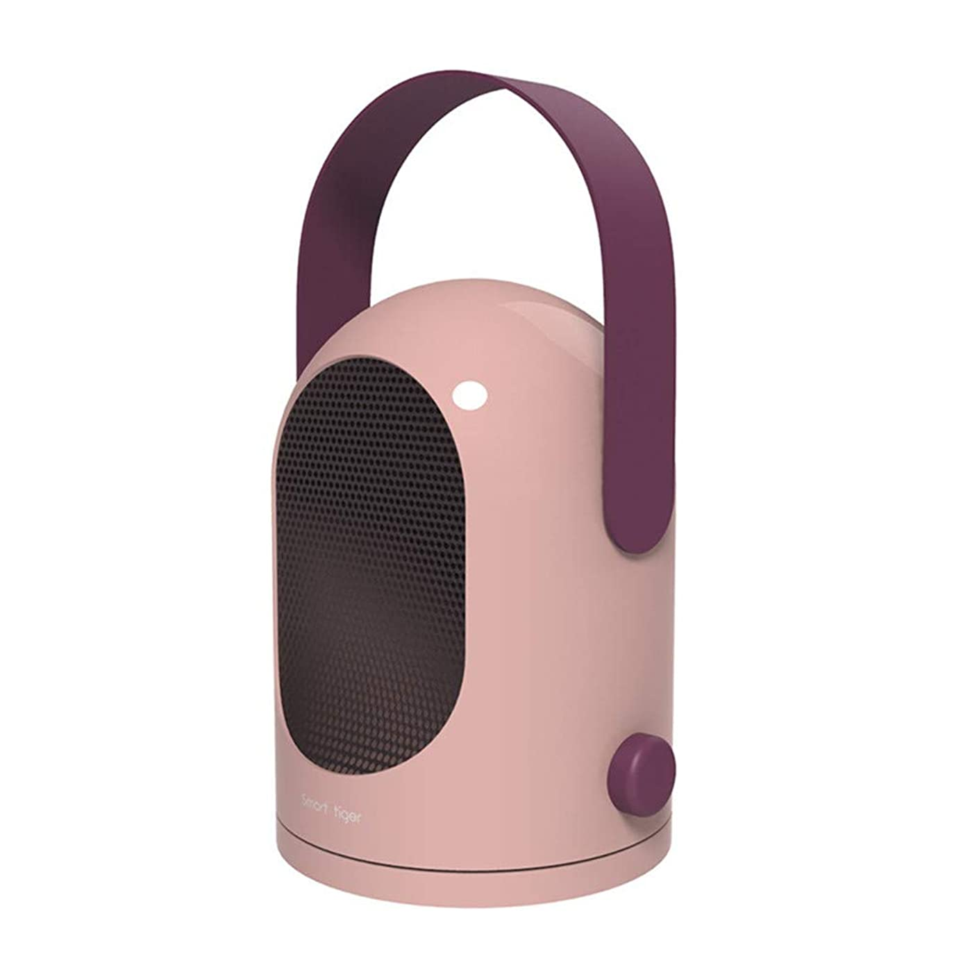 Space Heater Personal Warming Fan with Adjustable 2 Temperature Speed Options Portable Fast Heat Small Ceramic Space Heater 600W Great for Office Home Indoor Use (Pink)