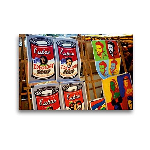 Lienzo Calvendo Premium 45 cm x 30 cm horizontal, Souvenirs con la imagen de Che Guevaras en La Habana, imagen sobre bastidor, listo sobre lienzo, impresión en lugares