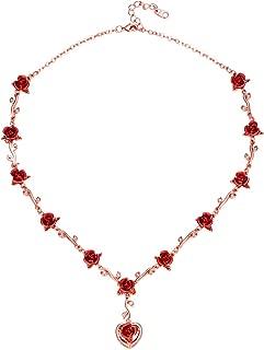 Best dozen roses drop heart necklace Reviews