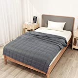 Homde Weighted Blanket with 4.7'' x 4.7'' Small Compartments...
