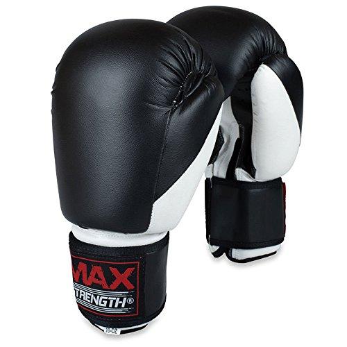MAXSTRENTGH Boxhandschuhe, Sparring-Handschuhe, Trainingshandschuhe, Boxsack, MMA, Kickboxen, Kampf (284 g)