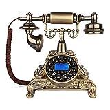 LXZSP Teléfono Fijo Retro Teléfono Antiguo con Cable, diseño Retro clásico,...