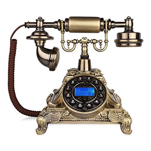 LXZSP Teléfono Fijo Retro Teléfono Antiguo con Cable, diseño Retro clásico, Madera Maciza de Estilo Europeo y Resina Versus