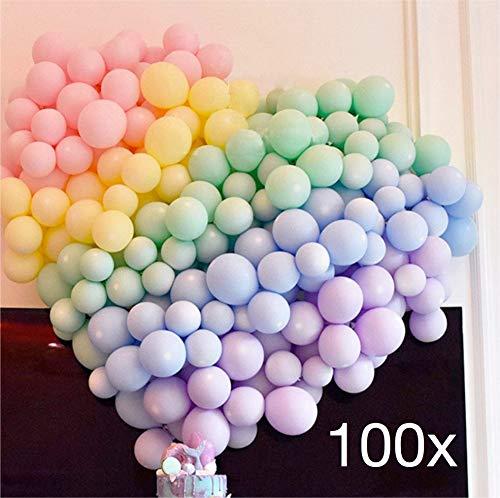 TK Gruppe Timo Klingler 100x Premium Luftballons Pastell Ø 35 cm bunt gemischte Pastellfarben - 100% Bio - (100x Pastell)