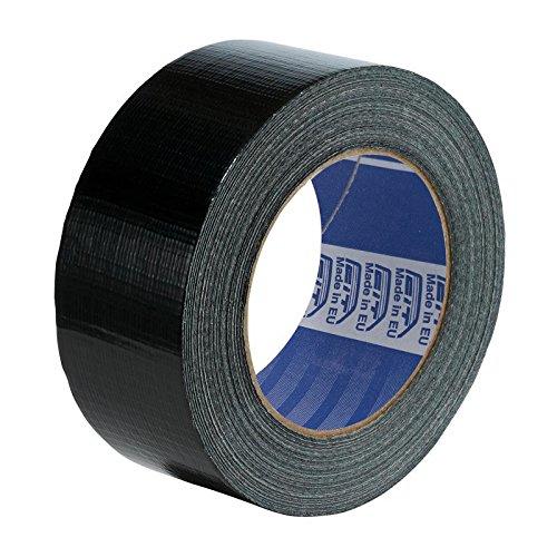 Nastro Telato Americano Nero - 50mm x 25 metri - impermeabile - per riparazioni e fai da te - isolante - utile anche per piscine e zanzariere e tubi di gomma e plastica - confezione singola