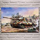 AJleil Puzzle 1000 Piezas Pintura Decorativa del Carro del Tanque Militar del Arte Puzzle 1000 Piezas paisajes Rompecabezas de Juguete de descompresión Intelectual Rompecabezas de j50x75cm(20x30inch)
