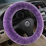 Bellesie Universal Warm Winter Genuine Wool Sheepskin Car Steering...