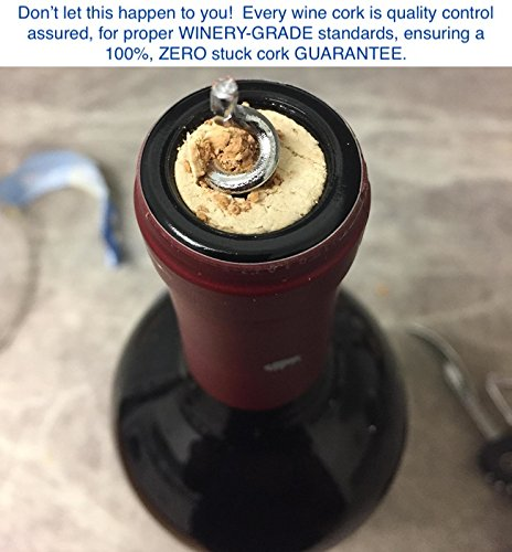 "Wine Corks New Natural #9 Premium Winery & Bottle Grade of Portugal. Fits ALL Bottles. Beats #8 & #7 cork, Straight 1-3/4"" x 15/16"" (44mm x 23.5mm) Agglomerated, Bottling, Crafts, Decor Count (30)"