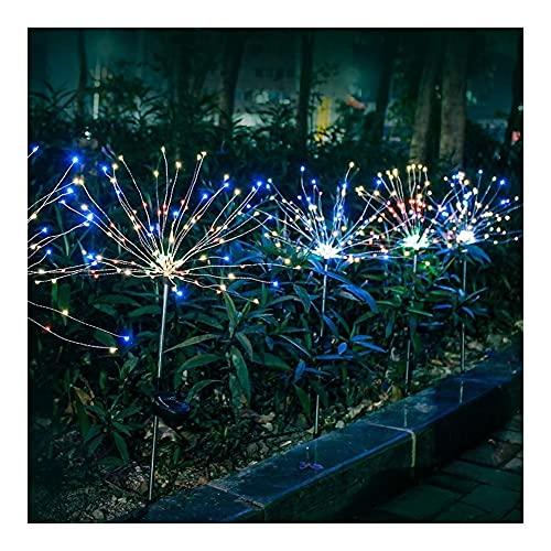 Luces Decorativas solares para jardín, Luces de Fuegos Artificiales solares Multicolores, para Pasarela, Patio, césped, decoración para Fiestas al Aire Libre