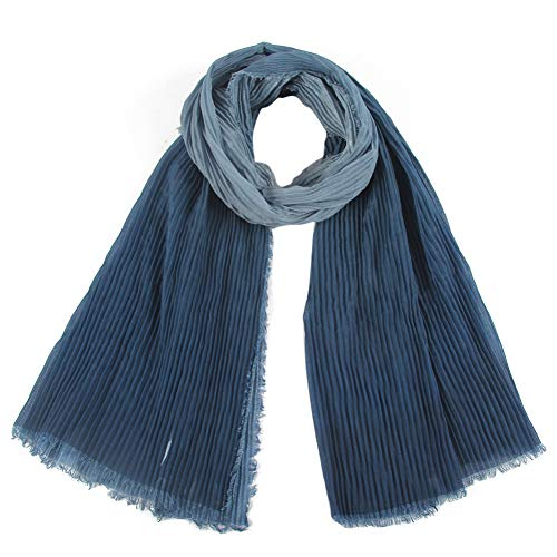 MYTJG Lady sjaal retro roze grijs anti-rimpel schuim polyester zachte sjaal sjaal vrouwelijke effen kleur sjaal warm en comfortabel warm