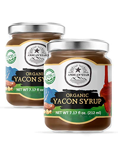 Andean Star Yacon Syrup Organic Raw (Pack of 2) 100% Pure Vegan,...