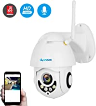 Anakk Outdoor Wireless WiFi Security Camera Pan Tilt HD 1080P IP Camera with Night Vision Motion Detection 3.6mm Lens IP66 Weatherproof for Home Surveillance Baby & Pet