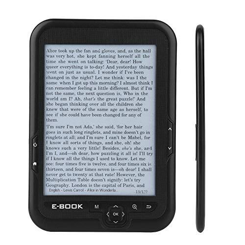 VBESTLIFE E-Reader con Schermo Inchiostro Elettronico ad Alta Risoluzione 800x600 Lettore E-Book E-Ink da 6 Pollici con Blu Custodia Protattiva(Nero-16G)