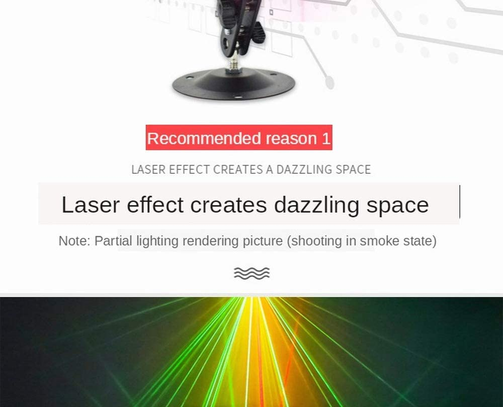 2020 new Party Light Laser Lights DJ Disco Lights 6 light holes and 64 gobos Sound Activated Led Projector for Christmas Halloween Decorations Gift Birthday Wedding Karaoke KTV Bar Holiday Show