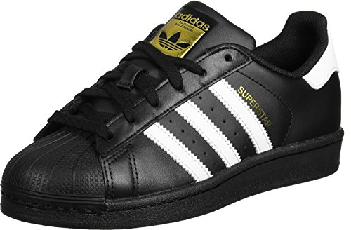 adidas Unisex-Kinder Superstar Foundation Low-Top Sneaker - Schwarz (Core Black/Ftwr White/Core Black) , 38 EU