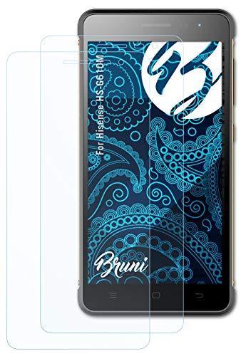 Bruni Schutzfolie kompatibel mit Hisense HS-G610M Folie, glasklare Bildschirmschutzfolie (2X)