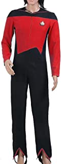 TISEA Star Fans Women's Voyager Admiral's Red Blue Uniform Jumpsuit Cosplay Costume
