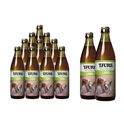 Tjure Hund - Sorte: Lamm 10 + 2 = 12 x 320 ml Hundesmoothie - Die flüssige Fleischnahrung für Hunde